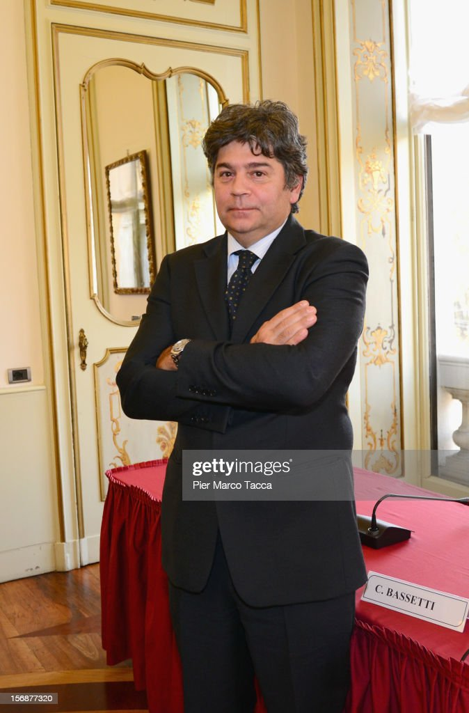 General Manager Catullo S.p.A. Carmine Bassetti poses before a press conference at Garda Aeroporti on November 23, 2012 in Milan, Italy. Catullo Spa, the society that manages the airports in Verona and Brescia, introduced today to the press the 2012-2022 industrial plan.