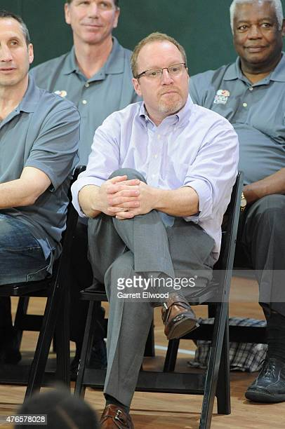 General Manager David Griffin of the Cleveland Cavaliers at the 2015 NBA Finals Cares Legacy Event as part of the 2015 NBA Finals on June 10 2015 at...
