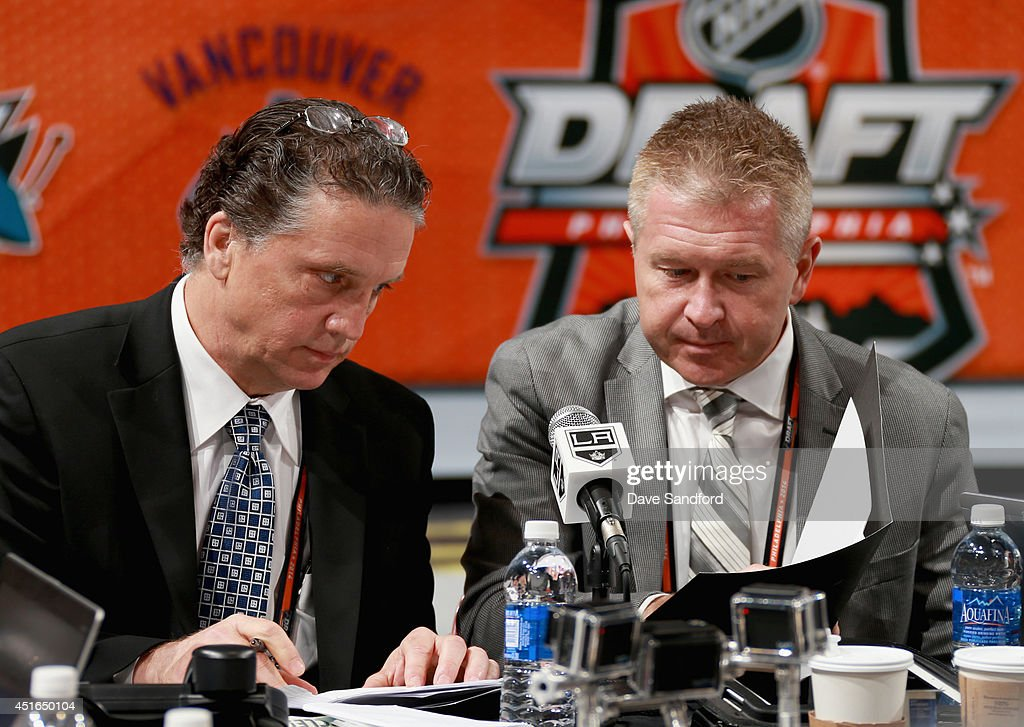 General Manager Dean Lombardi of the Los Angeles Kings attends the 2014 NHL Entry Draft at Wells Fargo Center on June 28, 2014 in Philadelphia, Pennsylvania.
