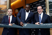 General Manager France Nicolas Besancon Actor Omar Sy and CEO of Audemars Piguet Francois Henry Bennahmias attends the Audemars Piguet Rue Royale...