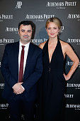 General Manager France Nicolas Besancon and Actress Virginie Efira attends the Audemars Piguet Rue Royale Boutique Opening on May 26 2016 in Paris...