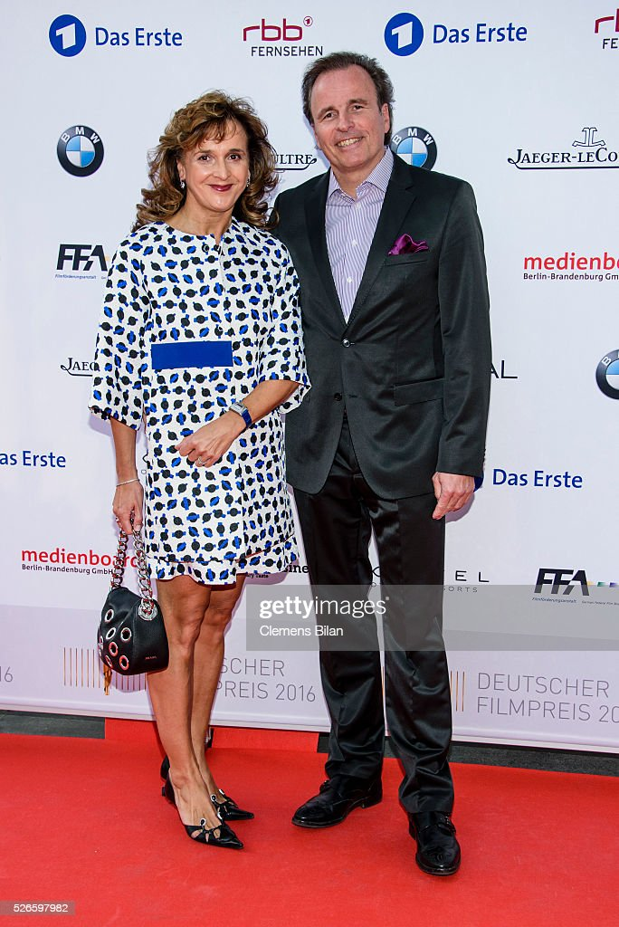 General Manager Jaeger-LeCoultre Northern Europe Juergen Bestian and his wife Sabine attend the nominee dinner for the German Film Award 2015 Lola (Deutscher Filmpreis) on April 30, 2016 in Berlin, Germany.