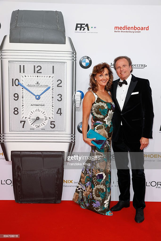 General Manager Jaeger-LeCoultre Northern Europe Juergen Bestian and his wife Sabine during the Lola German Film Award (Deutscher Filmpreis) 2016 on May 27, 2016 in Berlin, Germany.