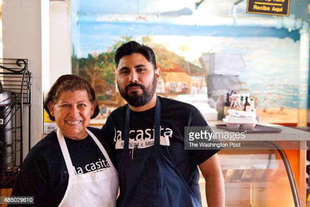 General Manager Jaime Arbaiza with his mother Leonor Their family started the restaurant in 2002 At La Casita on November 2 2015 in Silver Spring Md