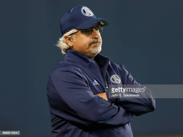 General Manager Jim Popp of the Toronto Argonauts during a CFL preseason game against the Montreal Alouettes at BMO field on June 8 2017 in Toronto...