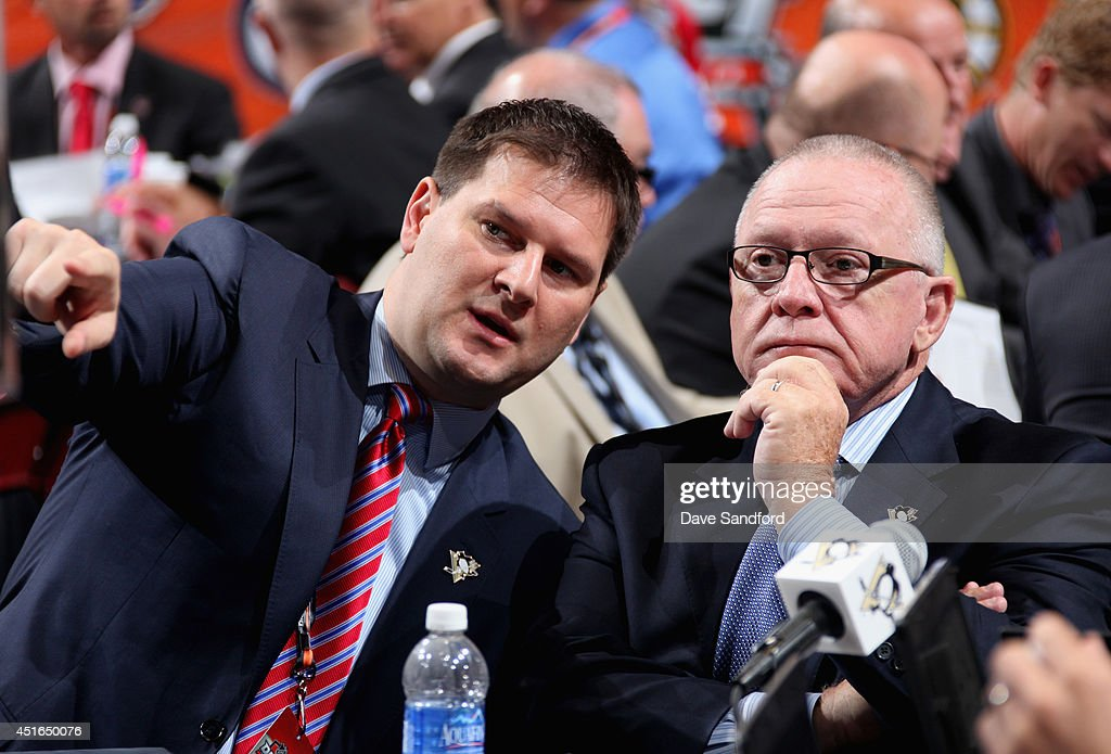 General Manager <a gi-track='captionPersonalityLinkClicked' href=/galleries/search?phrase=Jim+Rutherford&family=editorial&specificpeople=594541 ng-click='$event.stopPropagation()'>Jim Rutherford</a> of the Pittsburgh Penguins attends the 2014 NHL Entry Draft at Wells Fargo Center on June 28, 2014 in Philadelphia, Pennsylvania.