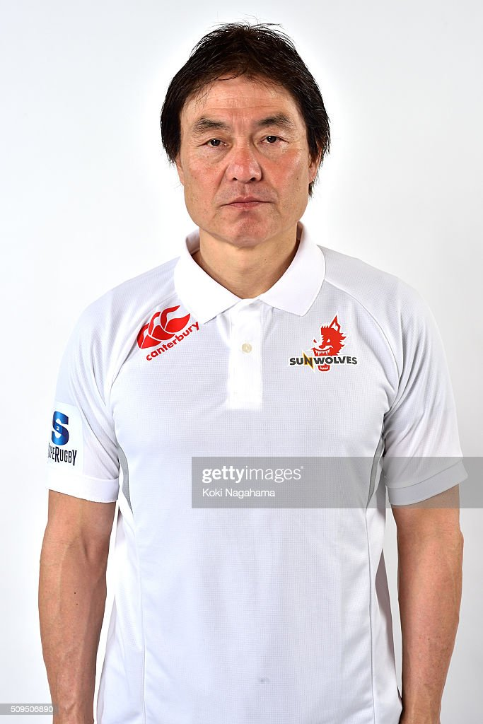 General manager Makoto Tamura poses during the Sunwolves 2016 Super Rugby headshots session on February 11, 2016 in Tokyo, Japan.