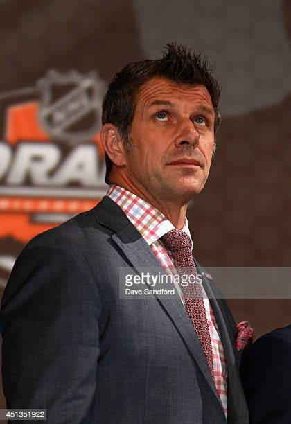 General manager Marc Bergevin of the Montreal Canadiens attends the 2014 NHL Entry Draft at Wells Fargo Center on June 27 2014 in Philadelphia...