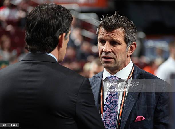 General manager Marc Bergevin of the Montreal Canadiens attends the 2014 NHL Entry Draft at Wells Fargo Center on June 28 2014 in Philadelphia...