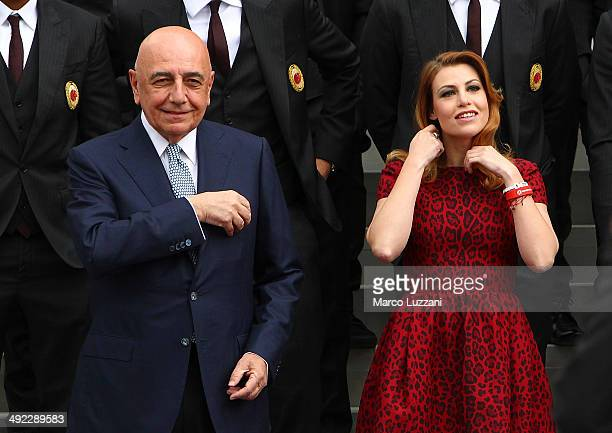 General Manager of AC Milan Adriano Galliani and General Manager of AC Milan Barbara Berlusconi attends the inauguration of AC Milan's new...