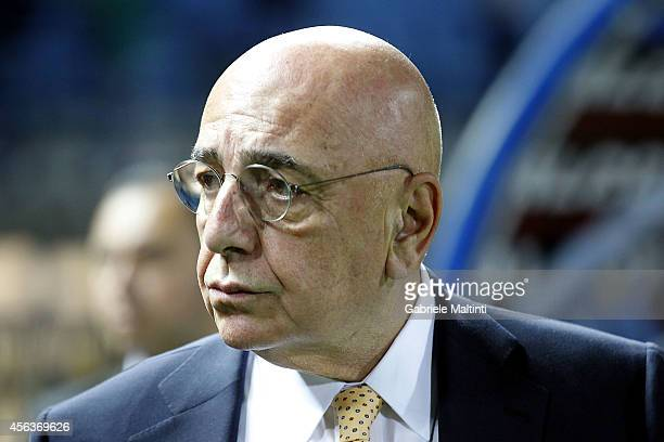 General manager of AC Milan Adriano Galliani during the Serie A match between Empoli FC and AC Milan at Stadio Carlo Castellani on September 23 2014...