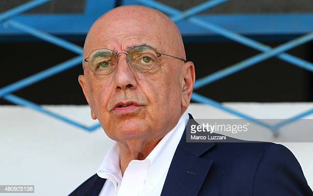 General Manager of AC Milan Adriano Galliani looks on before the preseason friendly match between AC Milan and Legnano on July 14 2015 in Solbiate...