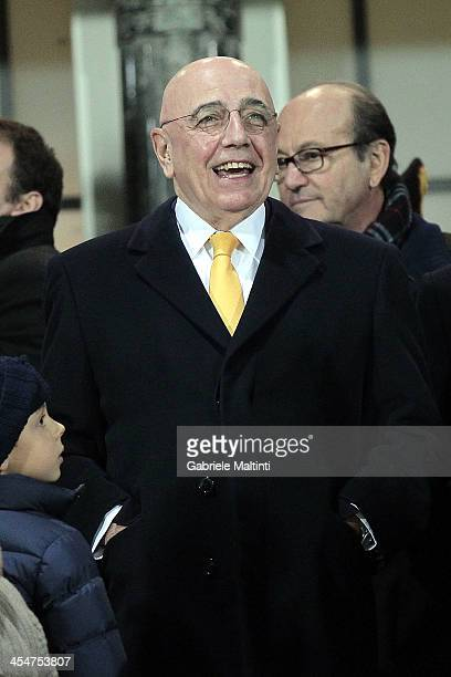 General Manager of AC Milan Adriano Galliani looks on during the Serie A match between AS Livorno and AC Milan at Stadio Armando Picchi on December 7...