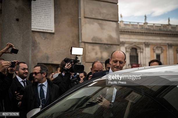 General Manager of AS Roma Mauro Baldissoni exit from the Capitol after the twohour meeting with the Deputy Mayor Daniele Frongia