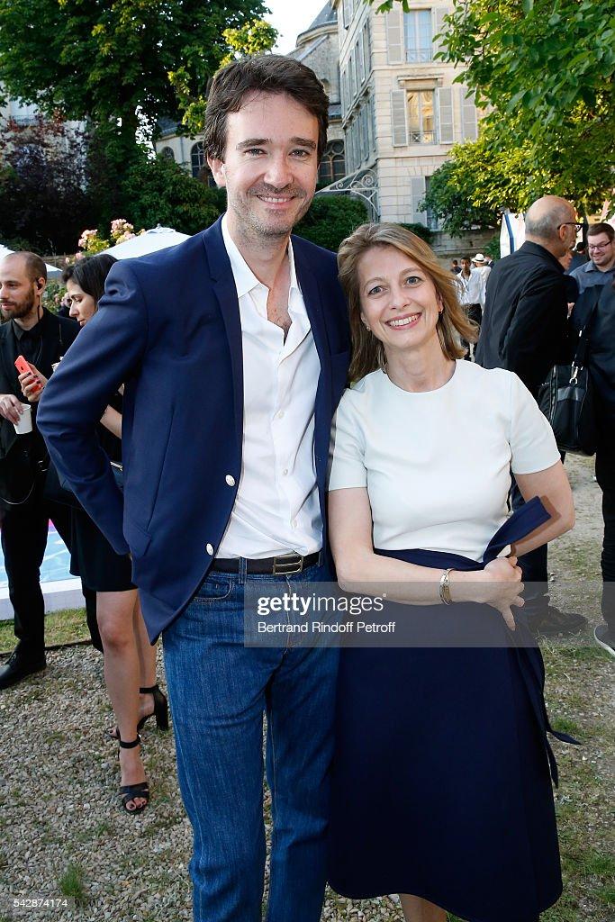 General manager of Berluti Antoine Arnault and General director of Berluti Severine Merle attend the Berluti Menswear Spring/Summer 2017 show as part...