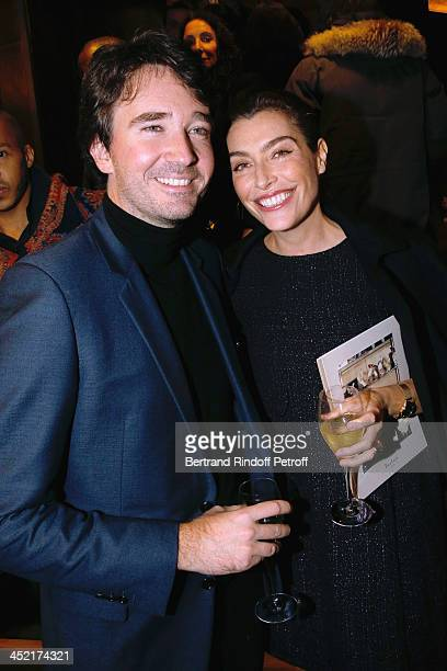 General manager of Berluti Antoine Arnault and Journalist Daphne Roulier attend Berluti Flagship Store Opening on November 26 2013 in Paris France