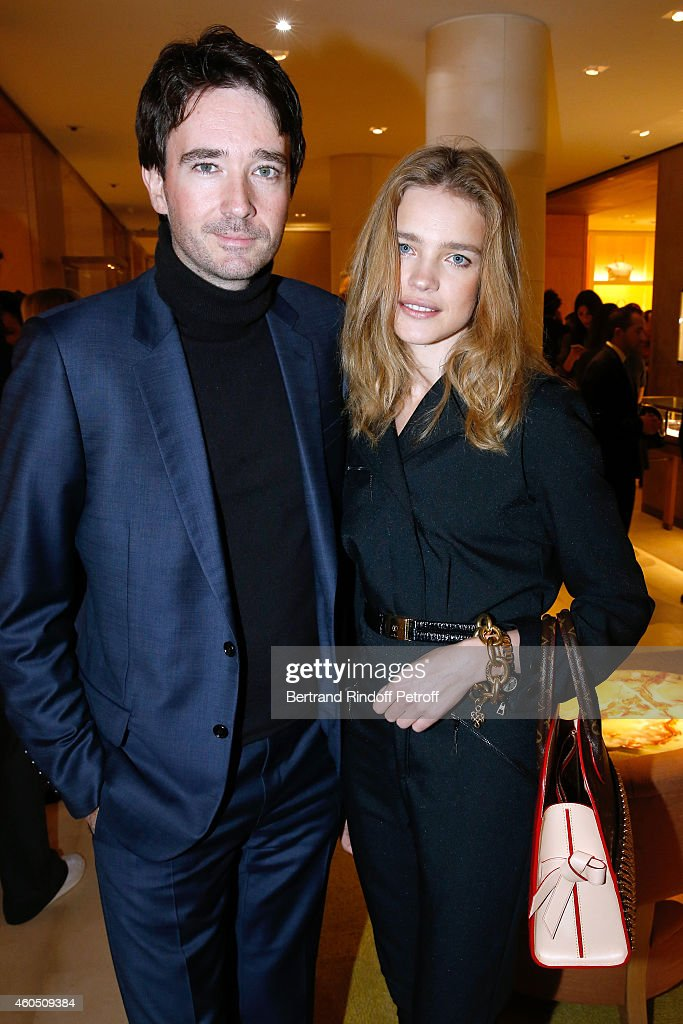 General manager of Berluti Antoine Arnault and Model Natalia Vodianova attend the Louis Vuitton Montaigne Store ReOpening party at Louis Vuitton...