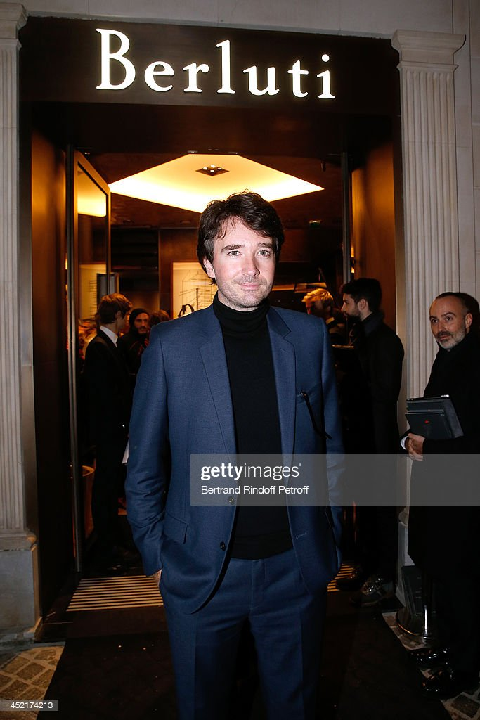 General manager of Berluti <a gi-track='captionPersonalityLinkClicked' href=/galleries/search?phrase=Antoine+Arnault&family=editorial&specificpeople=676045 ng-click='$event.stopPropagation()'>Antoine Arnault</a> attends Berluti Flagship Store Opening on November 26, 2013 in Paris, France.