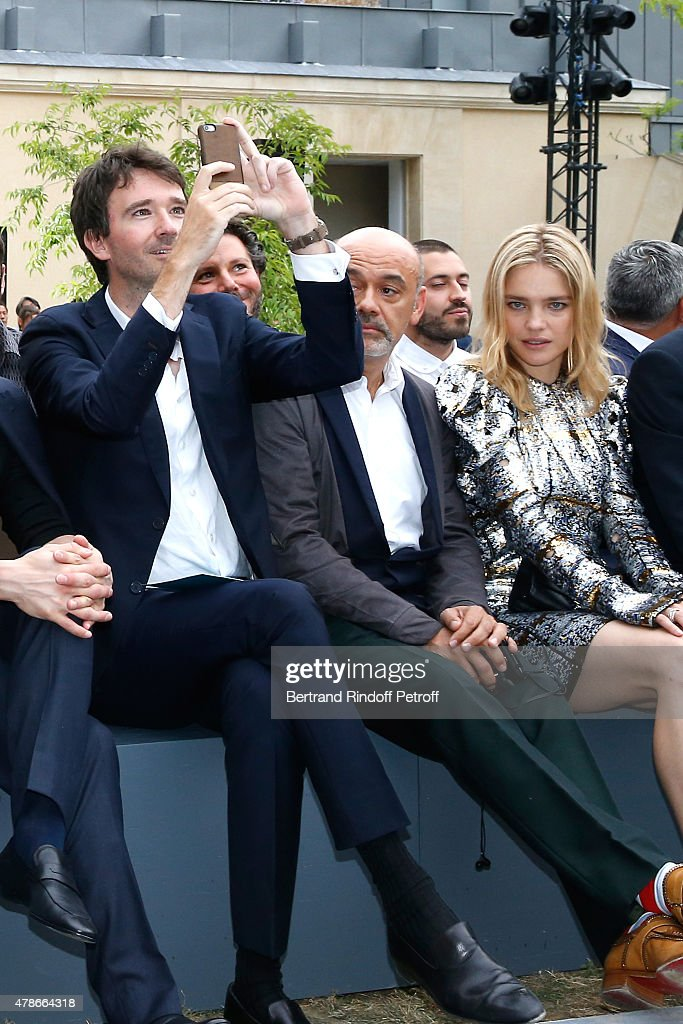 General manager of Berluti <a gi-track='captionPersonalityLinkClicked' href=/galleries/search?phrase=Antoine+Arnault&family=editorial&specificpeople=676045 ng-click='$event.stopPropagation()'>Antoine Arnault</a>, <a gi-track='captionPersonalityLinkClicked' href=/galleries/search?phrase=Christian+Louboutin+-+Fashion+Designer&family=editorial&specificpeople=4644509 ng-click='$event.stopPropagation()'>Christian Louboutin</a> and Model <a gi-track='captionPersonalityLinkClicked' href=/galleries/search?phrase=Natalia+Vodianova&family=editorial&specificpeople=203265 ng-click='$event.stopPropagation()'>Natalia Vodianova</a> attend the Berluti Menswear Spring/Summer 2016 show as part of Paris Fashion Week. Held at Musee Picasso on June 26, 2015 in Paris, France.