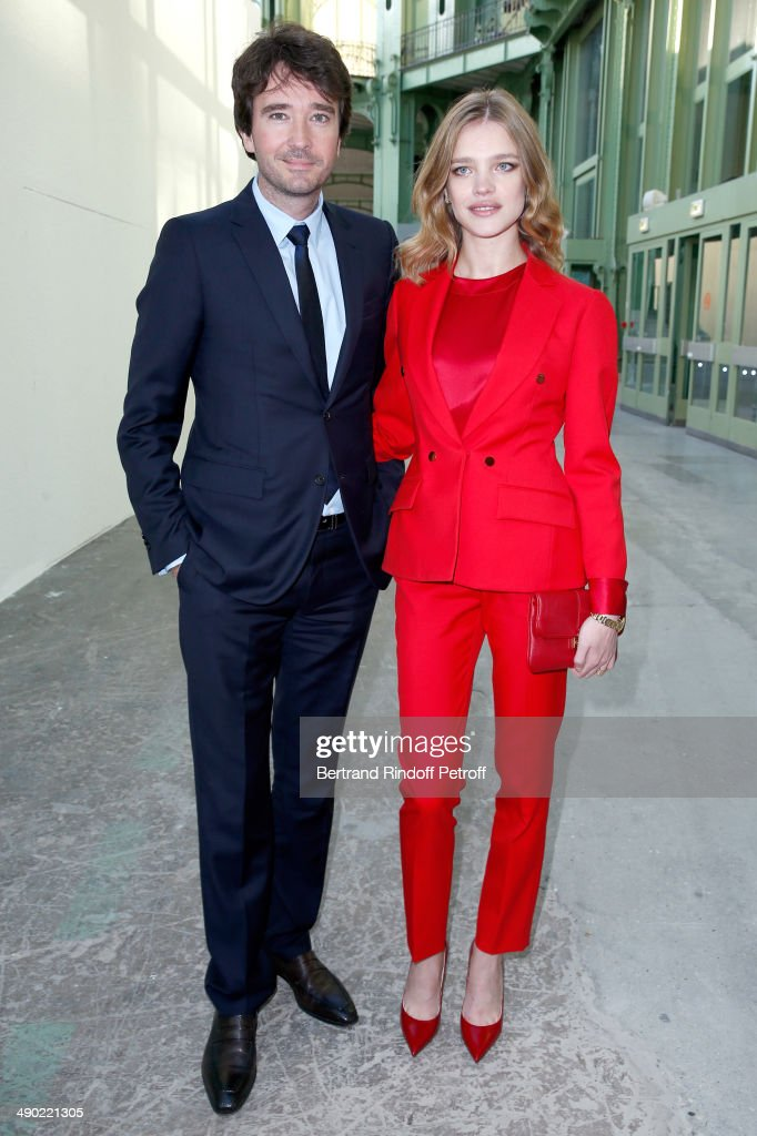 General manager of Berluti Antoine Arnault with Model and President of the 'Naked Heart Foundation' Natalia Vodianova attend 'The strange city'...