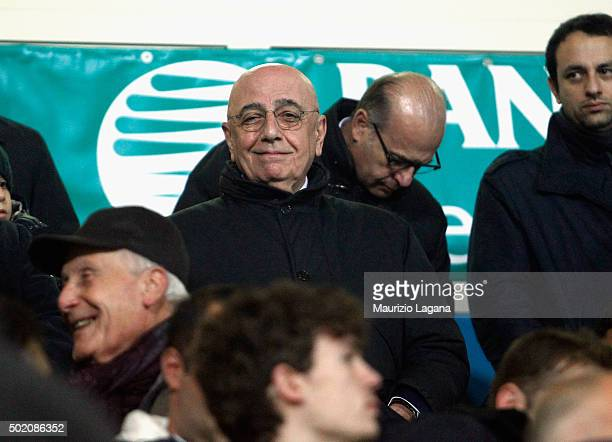 General manager of Milan Adriano Galliani during the Serie A match between Frosinone Calcio and AC Milan at Stadio Matusa on December 20 2015 in...