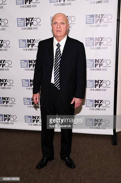 General Manager of NJ Devils Lou Lamoriello attends the 'Red Army' photo call during the 52nd New York Film Festival at Walter Reade Theater on...