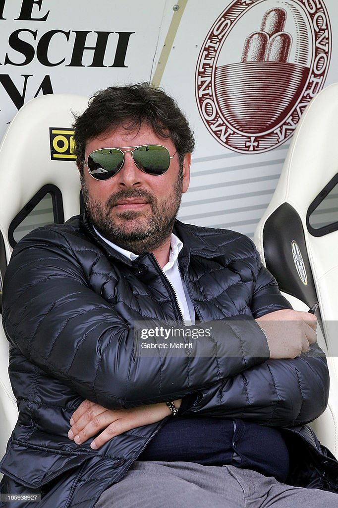 General Manager of Parma FC Pietro Leonardi looks on before during the Serie A match between AC Siena and Parma FC at Stadio Artemio Franchi on April 7, 2013 in Siena, Italy.