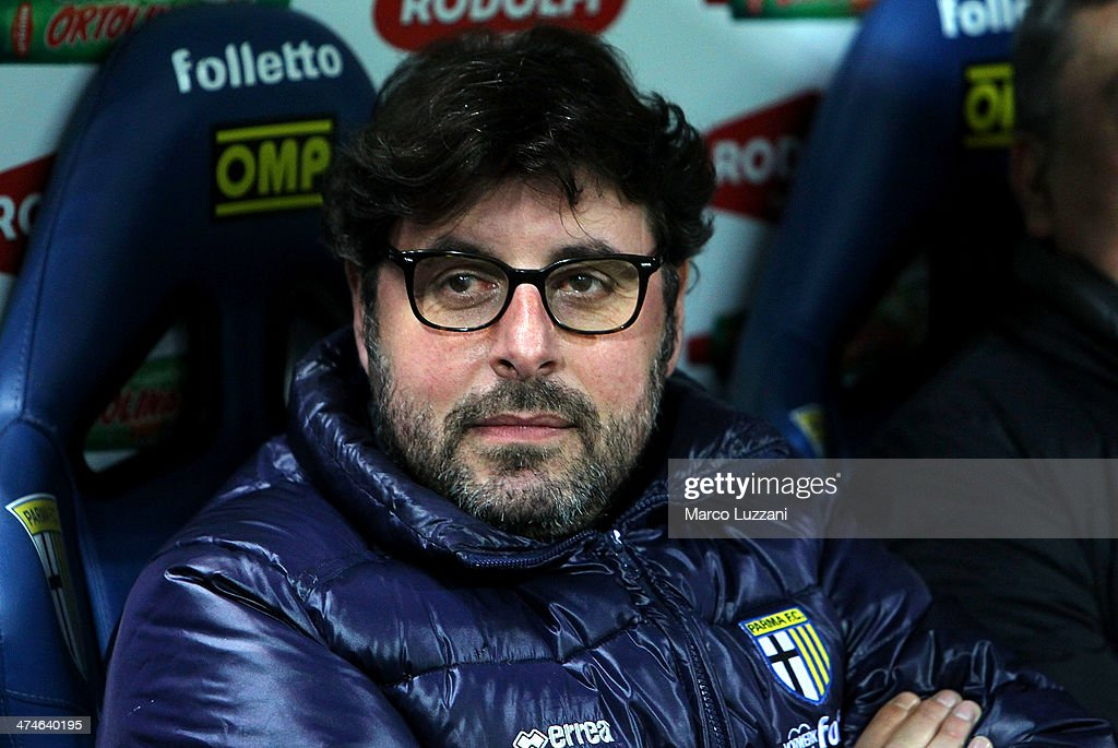 General Manager of Parma FC Pietro Leonardi looks on before during the Serie A match between Parma FC and ACF Fiorentina at Stadio Ennio Tardini on February 24, 2014 in Parma, Italy.