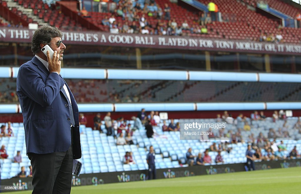 General Manager of Parma FC Pietro Leonardi looks on before the pre-season friendly match between Aston Villa and Parma at Villa Park on August 9, 2014 in Birmingham, England.