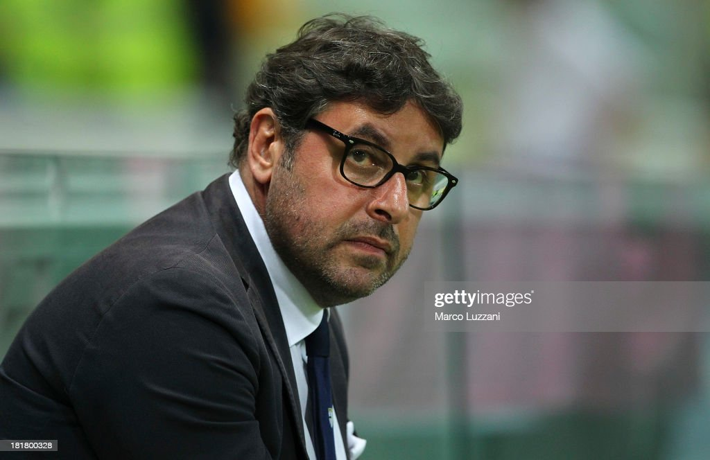 General Manager of Parma FC Pietro Leonardi looks on before the Serie A match between Parma FC and Atalanta BC at Stadio Ennio Tardini on September 25, 2013 in Parma, Italy.