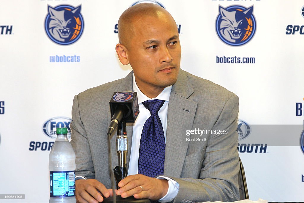 General Manager of the Charlotte Bobcats Rich Cho answers questions about hiring Steve Clifford at the Time Warner Cable Arena on May 29, 2013 in Charlotte, North Carolina.