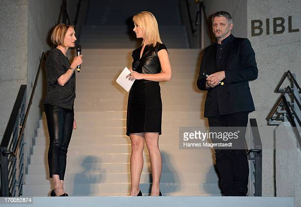 General Manager Porsche Design Women Heidi Otto Britta Hofmann and Creative Director Adidas Sport Style Division Dirk Schoenberger attend Porsche...