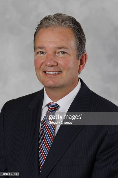 General manager Ray Shero of the Pittsburgh Penguins poses for his official headshot for the 20132014 season on September 11 2013 at the Consol...