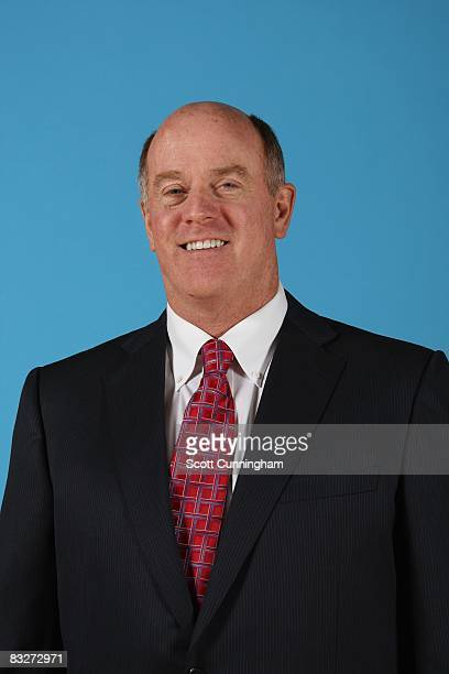 General Manager Rick Sund of the Atlanta Hawks poses for a portrait during NBA Media Day on September 29 2008 at Philips Arena in Atlanta Georgia...