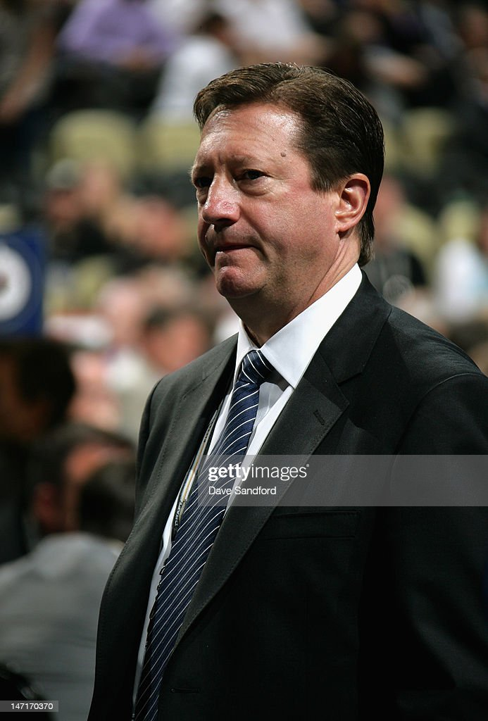 General manager Steve Tambellini of the Edmonton Oilers attends Round One of the 2012 NHL Entry Draft at Consol Energy Center on June 22, 2012 in Pittsburgh, Pennsylvania.