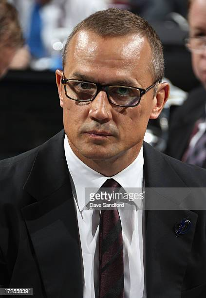 General manager Steve Yzerman of the Tampa Bay Lightning attends the 2013 NHL Draft at Prudential Center on June 30 2013 in Newark New Jersey