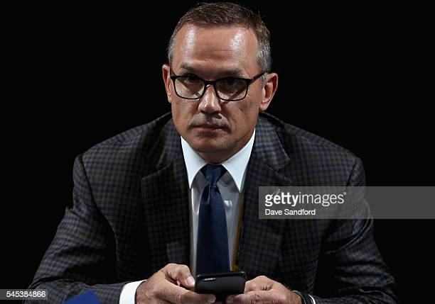 General manager Steve Yzerman of the Tampa Bay Lightning attends the 2016 NHL Draft at First Niagara Center on June 25 2016 in Buffalo New York