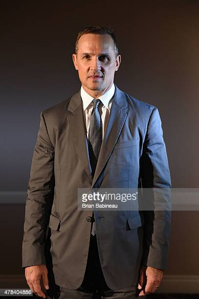 General Manager Steve Yzerman of the Tampa Bay Lightning poses for a portrait during the 2015 NHL Awards at the MGM Grand Garden Arena on June 24...