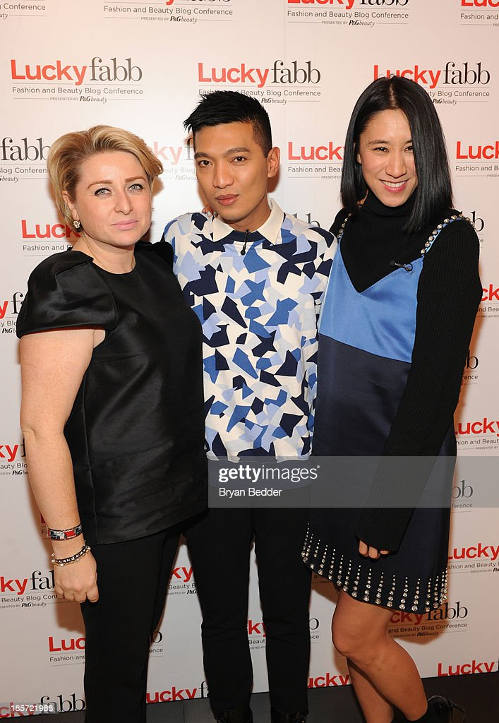General Manager, SVP at Lucky Magazine Gillian Gorman Round, <a gi-track='captionPersonalityLinkClicked' href=/galleries/search?phrase=BryanBoy&family=editorial&specificpeople=5712496 ng-click='$event.stopPropagation()'>BryanBoy</a> and editor in Chief of Lucky, Eva Chen attend Lucky Magazine's Two-Day East Coast