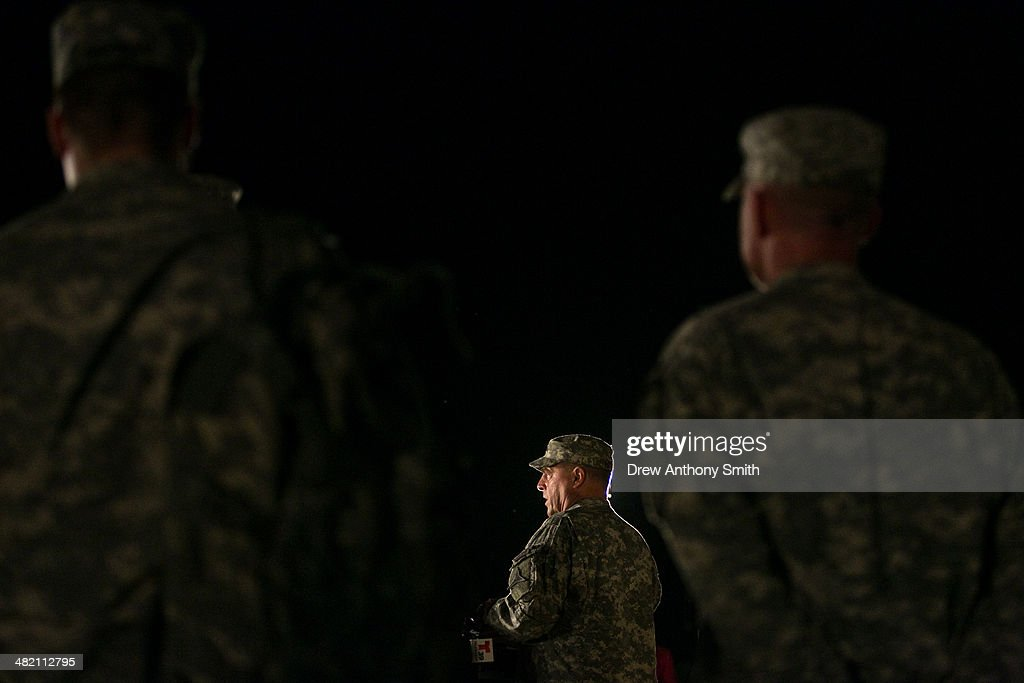 General Mark Milley, III Corps and Fort Hood Commanding General, speaks to media during a press conference about a shooting that occurred earlier in the day at Fort Hood Military Base on April 2, 2014 in Fort Hood, Texas. Milley confirmed that four people were dead in the shooting, including the gunman himself.