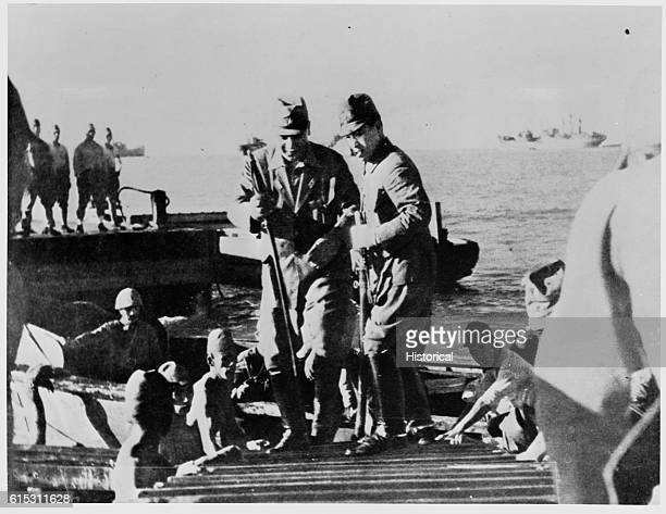 General Masaharu Homma the 'Poet General' on a pier in the Philippines Although Homma was blamed and executed for the Bataan Death March it is likely...