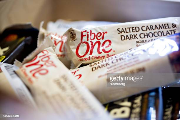 General Mills Inc Fiber One brand layered chewy bars are arranged for a photograph in Tiskilwa Illinois US on Tuesday Sept 19 2017 General Mills Inc...