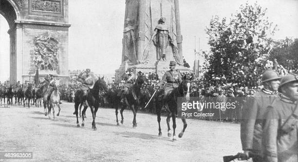 General Montuori and Italian troops during the victory parade Paris France14 July 1919