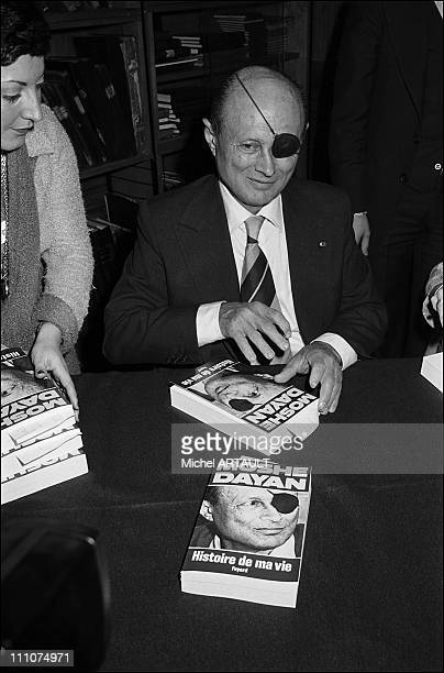 General Moshe Dayan autograph his book 'Story of My Life'Published by Fayard in Paris France on November 18th 1976