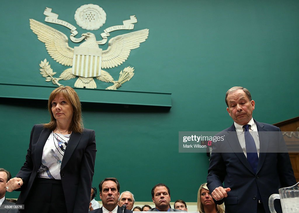 Mary barra testifies at house hearing on ignition switch for General motors washington dc