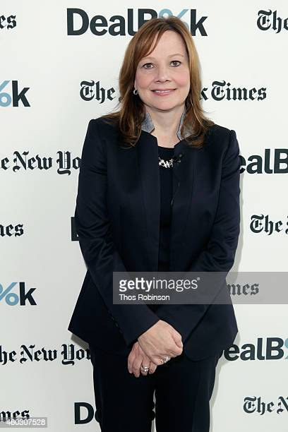 General Motors CEO Mary Barra attends The New York Times DealBook Conference at One World Trade Center on December 11 2014 in New York City