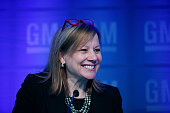 General Motors CEO Mary Barra holds a media briefing prior to the start of the 2015 GM Annual Meeting of Stockholders at GM world headquarters June 9...