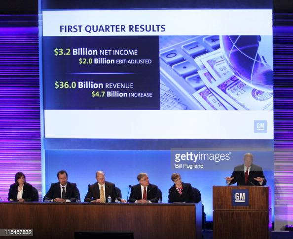General Motors' Chairman and CEO Dan Akerson speaks at the second annual meeting of shareholders of General Motors Company June 7 2011 in Detroit...