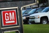 General Motors' Chevrolet brand vehicles are seen on a sales lot as the company announces a 2 billion dollar quarterly profit on November 10 2010 in...