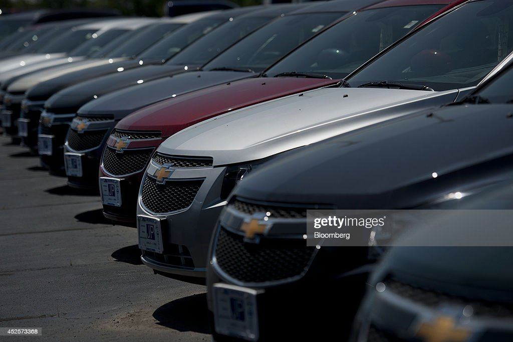 General motors co chevy malibu vehicles sit on the lot at General motors earnings